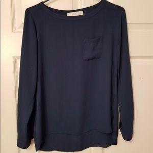 LOFT long sleeve blouse petite Size XS